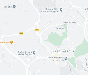Sundesk - Map Sophia Antipolis